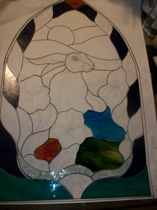 Placing the stained Glass into place