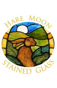 Hare Moon Stained Glass Logo