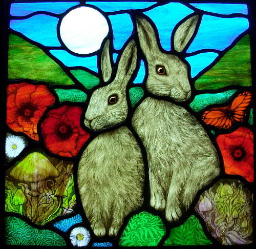 Stained Glass Artist Angie Dibble in Somerset